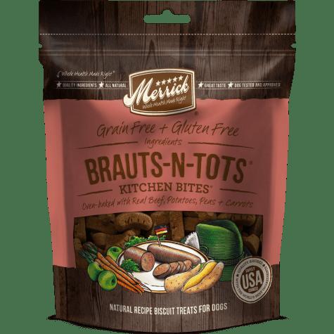 Merrick Grain Free Kitchen Bites Brauts-N-Tots Dog Treat