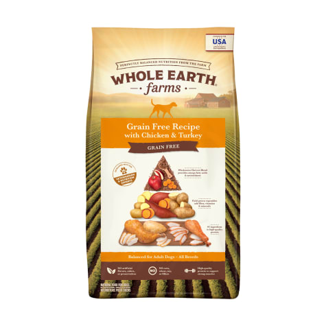 Whole Earth Farms Grain Free Recipe with Chicken & Turkey Dry Dog Food