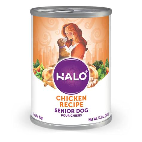 Halo Ground Chicken Senior Canned Wet Dog Food