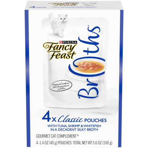 Purina Fancy Feast Broths With Tuna, Shrimp & Whitefish Wet Cat Food Complement Variety Pack