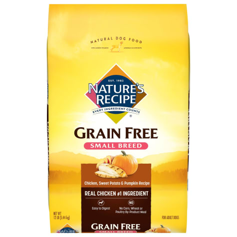 Nature's Recipe Grain-Free Chicken Sweet Potato & Pumpkin Small Breed Dog Food
