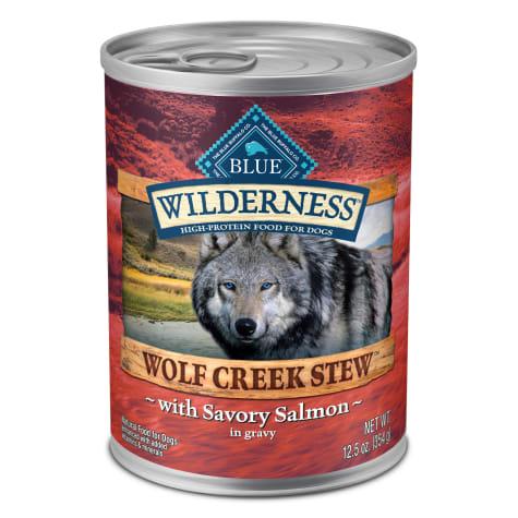 Blue Buffalo Blue Wilderness Wolf Creek Stew Savory Salmon in Gravy Adult Wet Dog Food