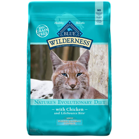 Blue Buffalo Blue Wilderness Adult Indoor Hairball Control Chicken Recipe Dry Cat Food
