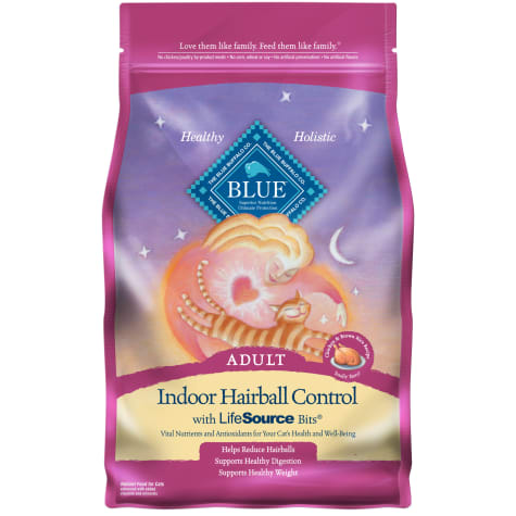 Blue Buffalo Indoor Hairball Control Natural Adult Chicken & Brown Rice Dry Cat Food