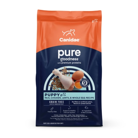 CANIDAE PURE Grain Free Limited Ingredient Real Chicken, Lentil & Whole Egg Dry Puppy Food