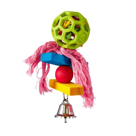 JW Pet Hol-ee Roller Pom Pom Bird Toy