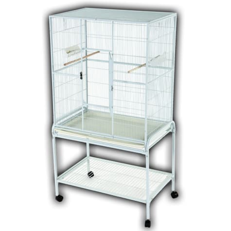 A&E Cage Company Flight Bird Cage in White