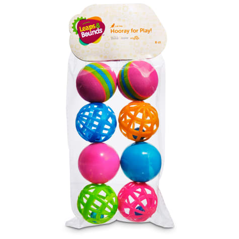 Leaps & Bounds Variety Pack of Balls Cat Toys