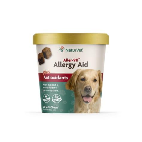 NaturVet Aller-911 Allergy Aid Dog Soft Chews