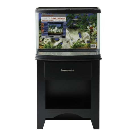 Marineland 28 Gallon Curve Ensemble Aquarium & Stand