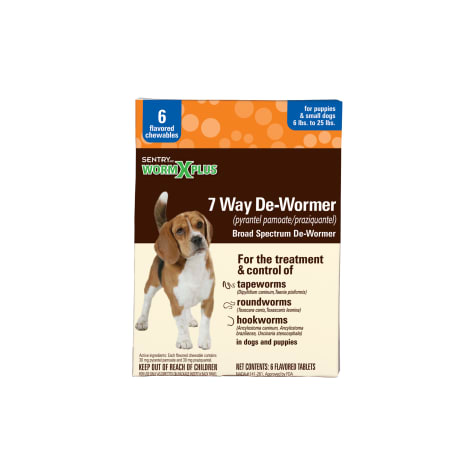 Sentry HC WormX Plus De-Wormer Chewables Flavored For Dogs