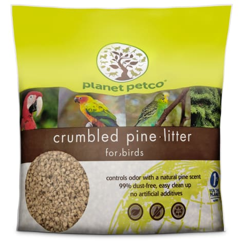 Planet Petco Crumbled Pine Bird Litter