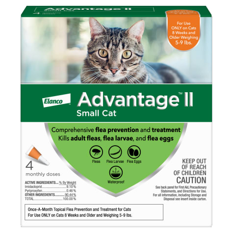 Advantage II Once-A-Month Cat & Kitten Topical Flea Treatment, 5 to 9 lbs.