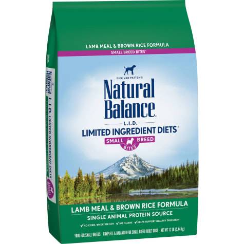 Natural Balance L.I.D. Limited Ingredient Diets Lamb & Rice Small Breed Bites Dry Dog Food