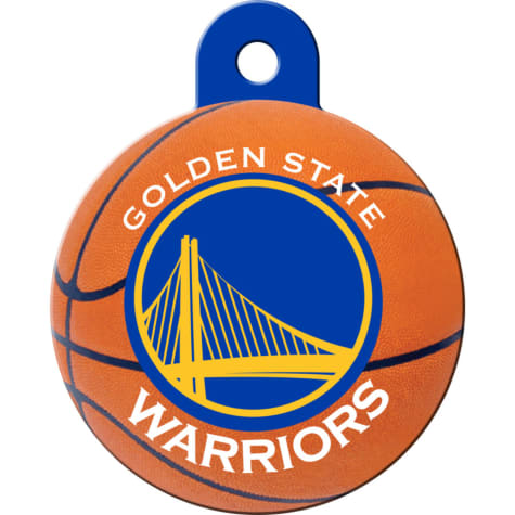 Quick-Tag Golden State Warriors NBA Circle Personalized Engraved Pet ID Tag, Large