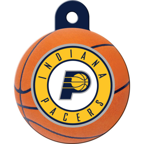 Quick-Tag Indiana Pacers NBA Circle Personalized Engraved Pet ID Tag, Large