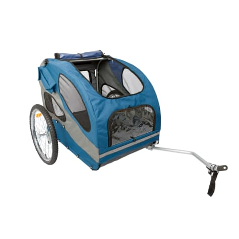 PetSafe Happy Ride Blue Aluminum Dog Bicycle Trailer