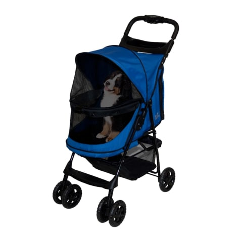 Pet Gear Happy Trails No-Zip Pet Stroller in Sapphire
