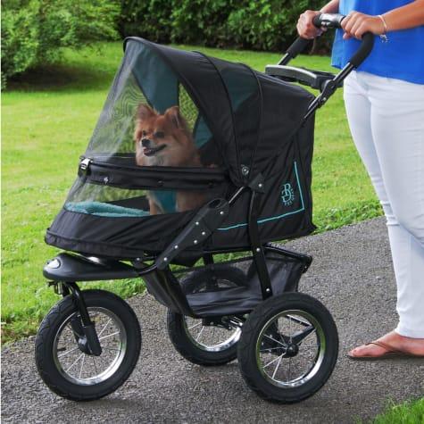 Pet Gear NV No-Zip Pet Stroller in Sky Line