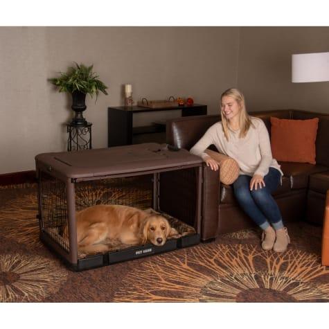 Pet Gear The Other Door Chocolate Steel Dog Crate