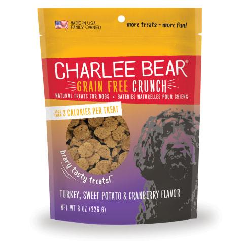 Charlee Bear Grain Free Turkey, Sweet Potato & Cranberry Bear Crunch Dog Treats