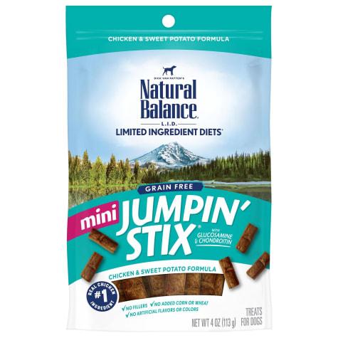 Natural Balance L.I.T. Limited Ingredient Treats Mini Jumpin Stix Chicken & Sweet Potato Dog Treats