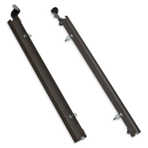 Plexidor Extra Large Sliding Tracks with Flip Lock for Pet Doors in Bronze