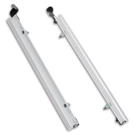 Plexidor Extra Large Sliding Tracks with Flip Lock for Pet Doors in White