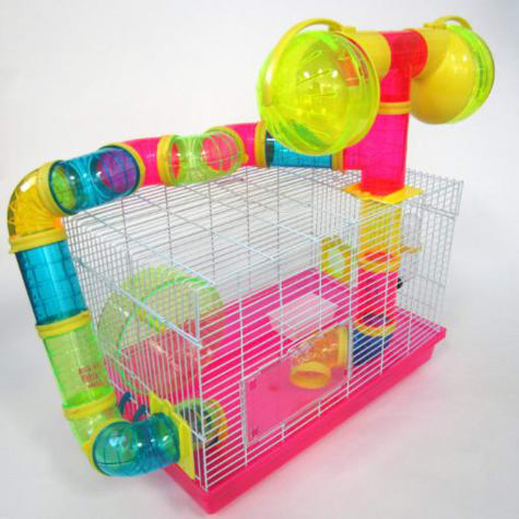 YML Tubed Hamster Cage in Pink