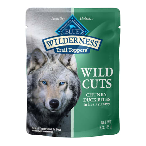 Blue Buffalo Blue Wilderness Trail Toppers Duck Wild Cuts Dog Food Topper