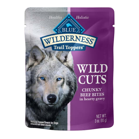 Blue Buffalo Blue Wilderness Trail Toppers Beef Wild Cuts Dog Food Topper