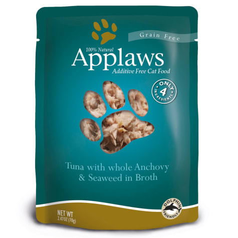 Applaws Tuna with Whole Anchovy and Seaweed in Broth Pouch Grain Free Cat Food