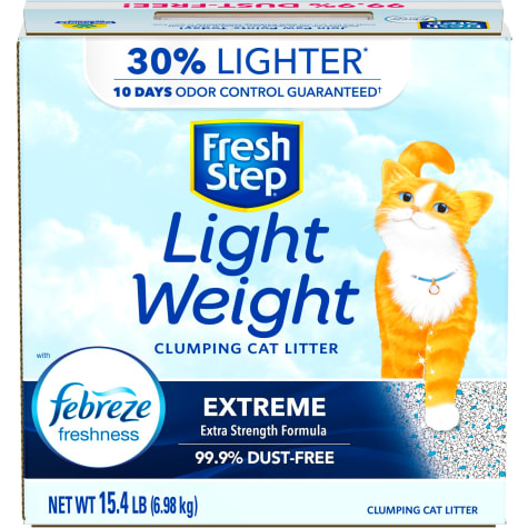 Fresh Step Lightweight Extreme Scented Clumping Cat Litter with the Power of Febreze