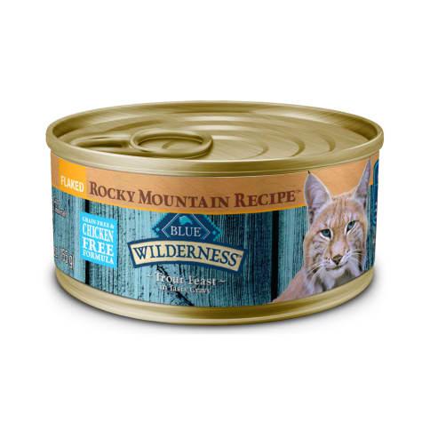 Blue Buffalo Blue Wilderness Rocky Mountain Recipe Adult Flaked Trout Feast Wet Cat Food
