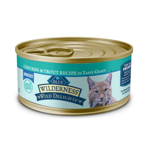Blue Buffalo Blue Wilderness Wild Delights Adult Minced Chicken & Trout Recipe Wet Cat Food