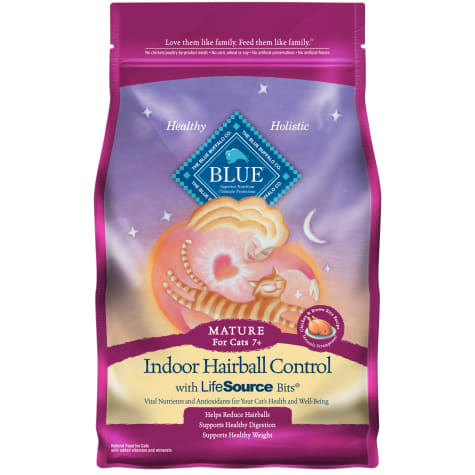Blue Buffalo Blue Indoor Hairball Control Mature Chicken & Brown Rice Recipe Dry Cat Food