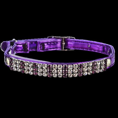 Bond & Co Bling Metallic Purple Cat Collar