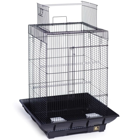 Prevue Pet Products Clean Life Series Playtop Bird Cage in Black
