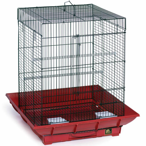 Prevue Pet Products Clean Life Series Bird Cage in Red & Black