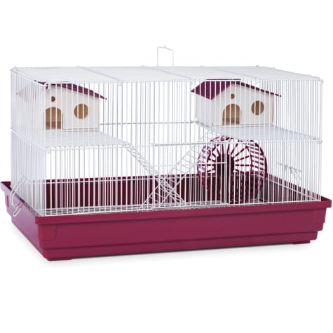 Prevue Pet Products Deluxe Small Animal Cage in Red & White