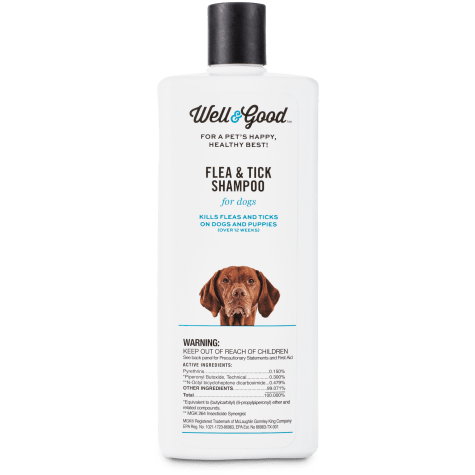 Well & Good Flea and Tick Treatment Shampoo for Dogs & Puppies
