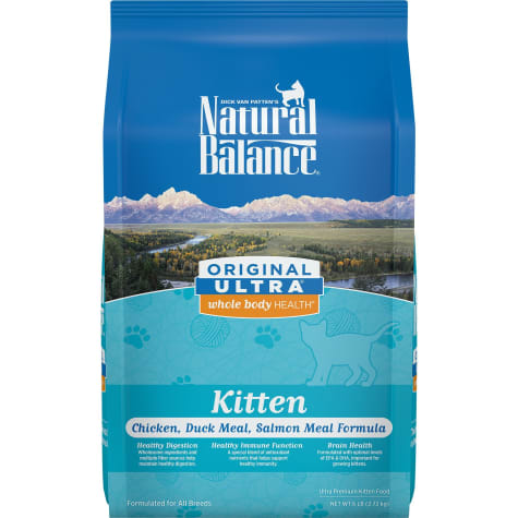 Natural Balance Original Ultra Whole Body Health Chicken, Duck Meal & Salmon Meal Kitten Food