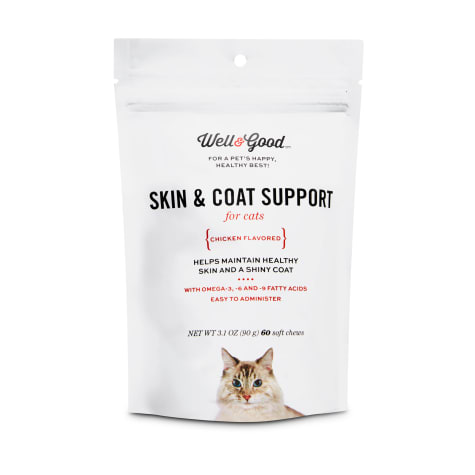 Well & Good Skin & Coat Support Cat Chews