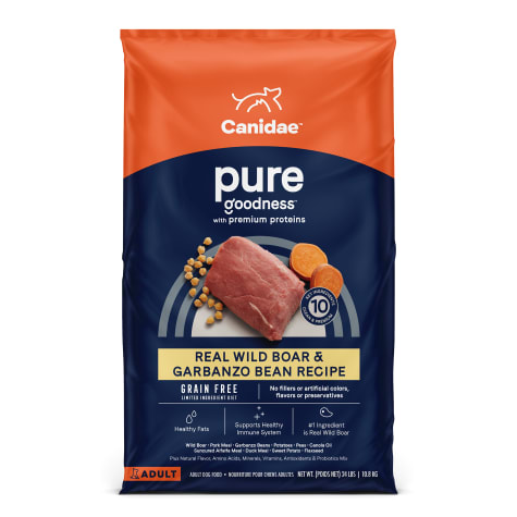CANIDAE PURE Real Wild Boar & Garbanzo Bean, Limited Ingredient, Grain Free Recipe Dry Dog Food