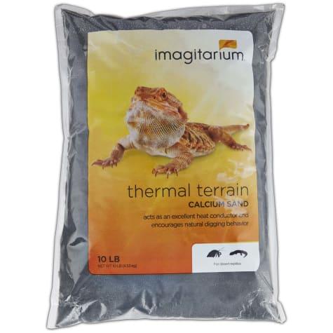 Imagitarium Black Calcium Reptile Sand