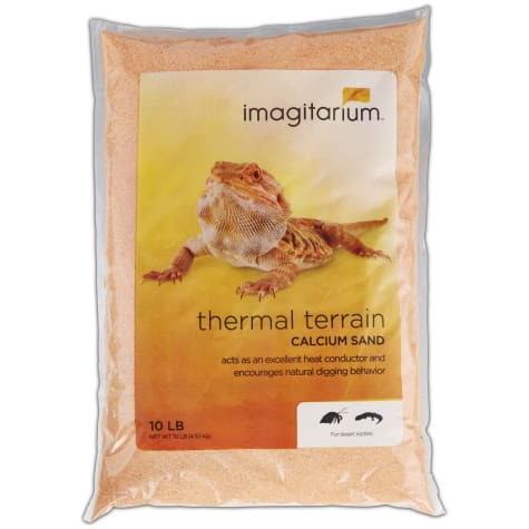 Imagitarium Orange Calcium Reptile Sand