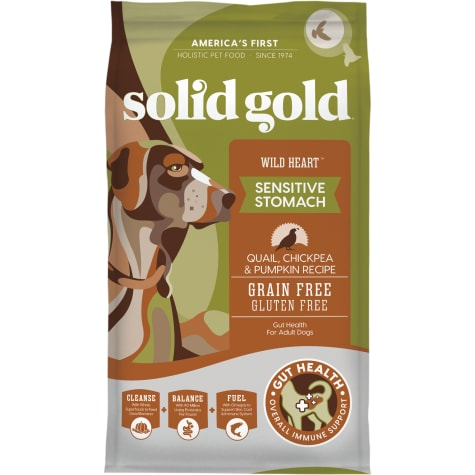 Solid Gold Grain-Free & Gluten Free Wild Heart with Natural Quail, Chickpea & Pumpkin Adult Dry Dog Food