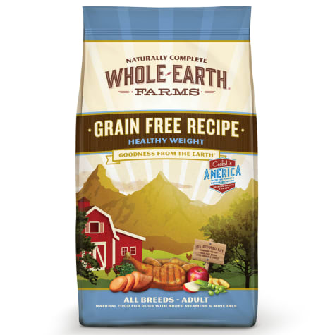 Whole Earth Farms Grain Free Healthy Weight Recipe Dry Dog Food