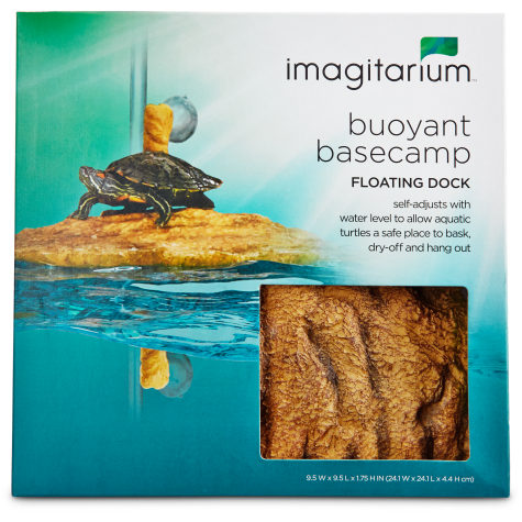 Imagitarium Corner Floating Turtle Dock Aquatic Decor