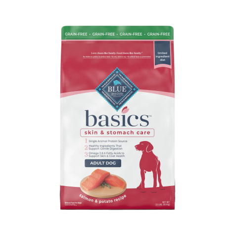 Blue Buffalo Basics Limited Ingredient Diet Natural Adult Grain Free Salmon & Potato Dry Dog Food